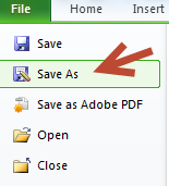 File -> Save As